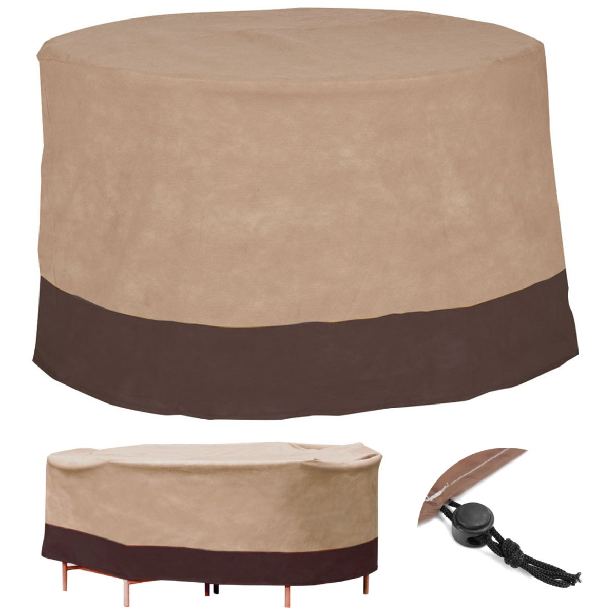 Table runner on round table - Brown Table Cover Waterproof Table Runner Outdoor Patio Round Table Cover Home Textiles Furniture Protection Cover