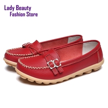 Genuine Leather Slip on Woman Brand Loafers Zapatos Designer Casual Round Toe for Women Flats Women's Flat Driving Shoes NX0048