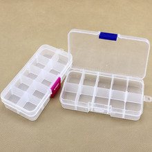 The new multi-function convenient to carry Ten grid  Detachable plastic tool box  two colors   free shipping  CLL0052(China (Mainland))
