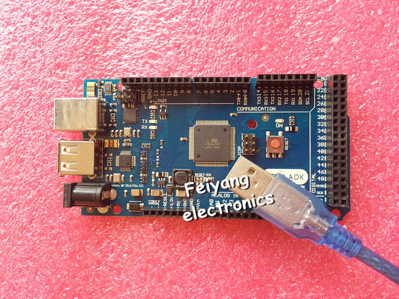 1set=1pcs ADK Mega 2560 2012 ARM Version Main Control Board + 1pcs USB, Compatible with (Google ADK 2012) For ARDUINO(China (Mainland))