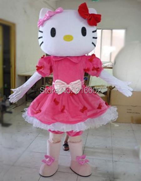 new!!! Miss Hello Kitty Mascot Costume Adult Size Hello Kitty Mascot Costume High quality adult mascot costume(China (Mainland))