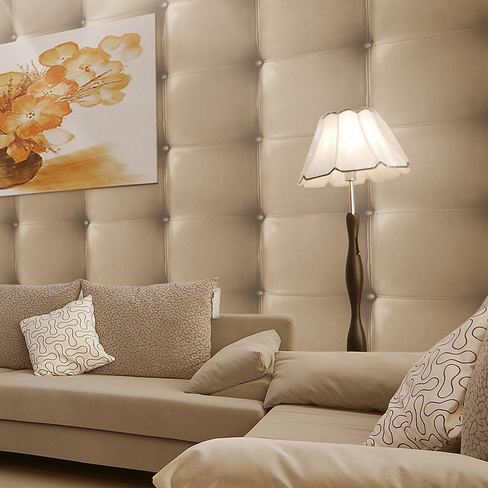 HaokHome Modern Snake Leather Textured Wallpaper Khaki Realistic 3D Wall Paper Rolls Living Bedroom Home Wall Decoration(China (Mainland))