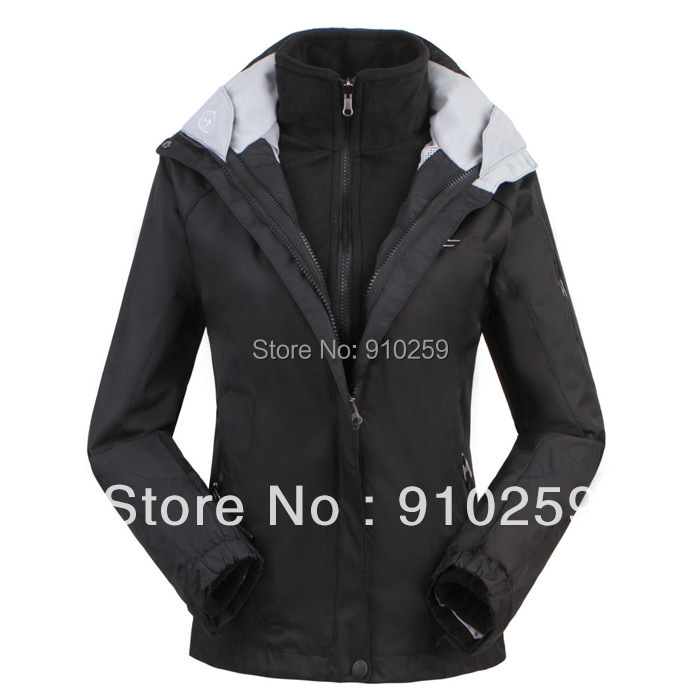 2014 New brand snowboard women's sports coat Winter outdoor waterproof waterproof breathable two-in-one woman Skiing jacket(China (Mainland))