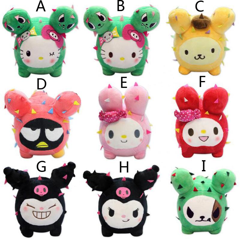 9PCS/LOT Sanrio Mini Plush Doll XO Cool Penguin Perin Soft Toy Hello Kitty Melody Lovely Doll Girl Friend Gift(China (Mainland))