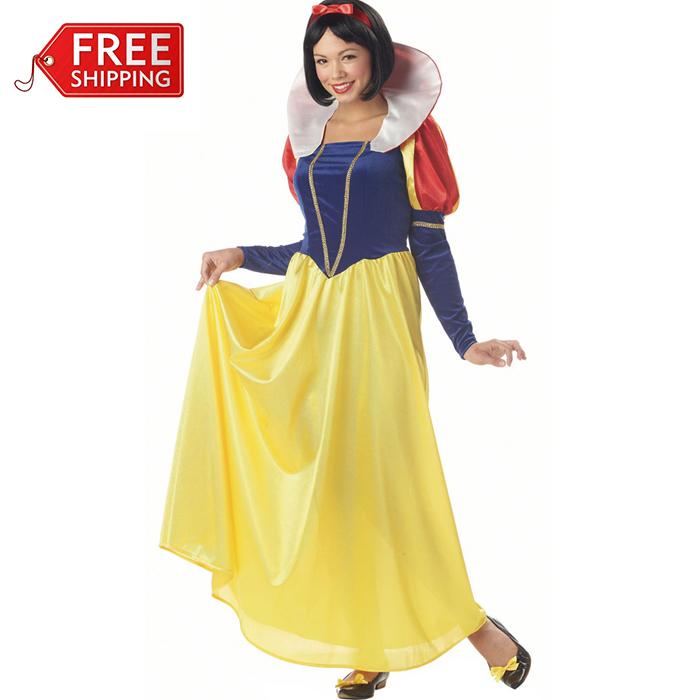snow white cosplay women adult halloween costumes for women Princess Snow White Costume women sexy dress costume wholesale(China (Mainland))