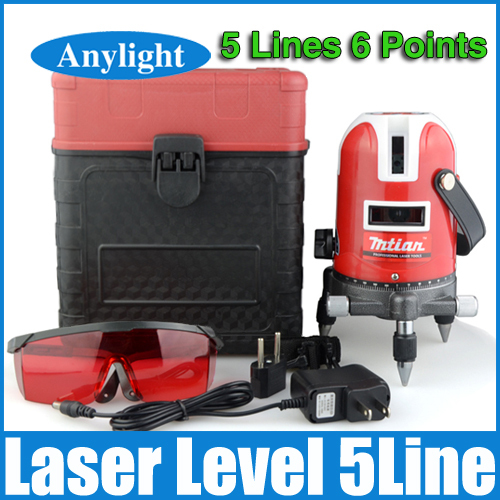5 lines 6 points laser level 360 rotary cross laser line leveling with outdoor model can be used with outdoor receiver WAL26(China (Mainland))