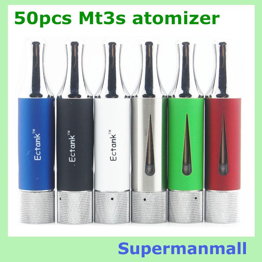 50pcs Dual coils EcTank MT3S Electronic Cigarette Atomizer Pyrex Glass clearomizer vaporizer ego evod e cigarette mt3s atomizer<br><br>Aliexpress