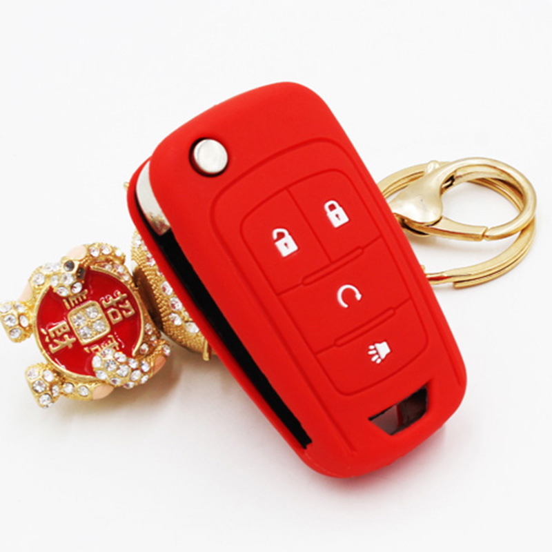 Silicone Cover Holder For Buick Regal Lacross Gl8 Excelle Xt Gt Enclave Keysmart Case For Buick Car Key Shell Case Cover Bag(China (Mainland))