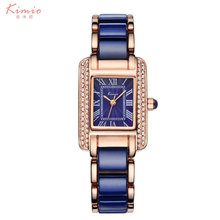 Kimio Luxury brand watch women rectangle ceramic band ladies Analog bracelet quartz-watch montre femme Wrist watches for women