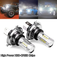 2pcs CREE LED Hi/Lo Beam Head Fog Driving Light Bulb