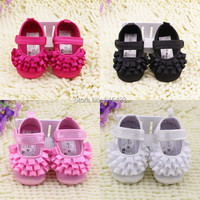 New Year arrival 2015 cute baby toddler shoes princess stitching casual shoes dance shoes 3 size choose 1103