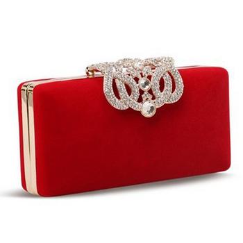 Корона алмазы бархат женщины сумку день муфты малый кошелек сумка кристалл вечерние ...