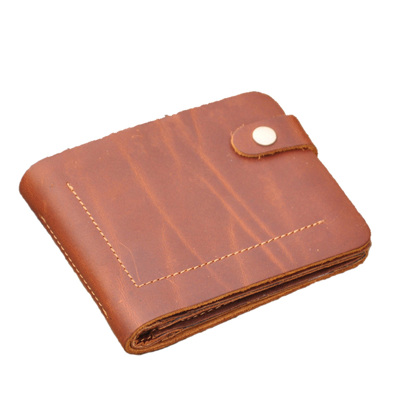 2015 Men Brand Classic Vintage Raw and Natural Crazy Horse Cowhide Genuine Leather Small Wallet Male Coin Pocket Purse Carteras<br><br>Aliexpress