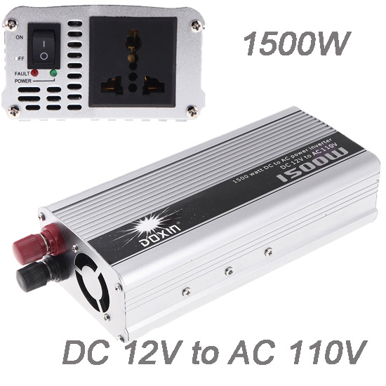 Professional 1500W WATT DC 12V to AC 110V Portable Car Power Inverter Charger Converter Transformer for Car Truck Pickup SUV(China (Mainland))