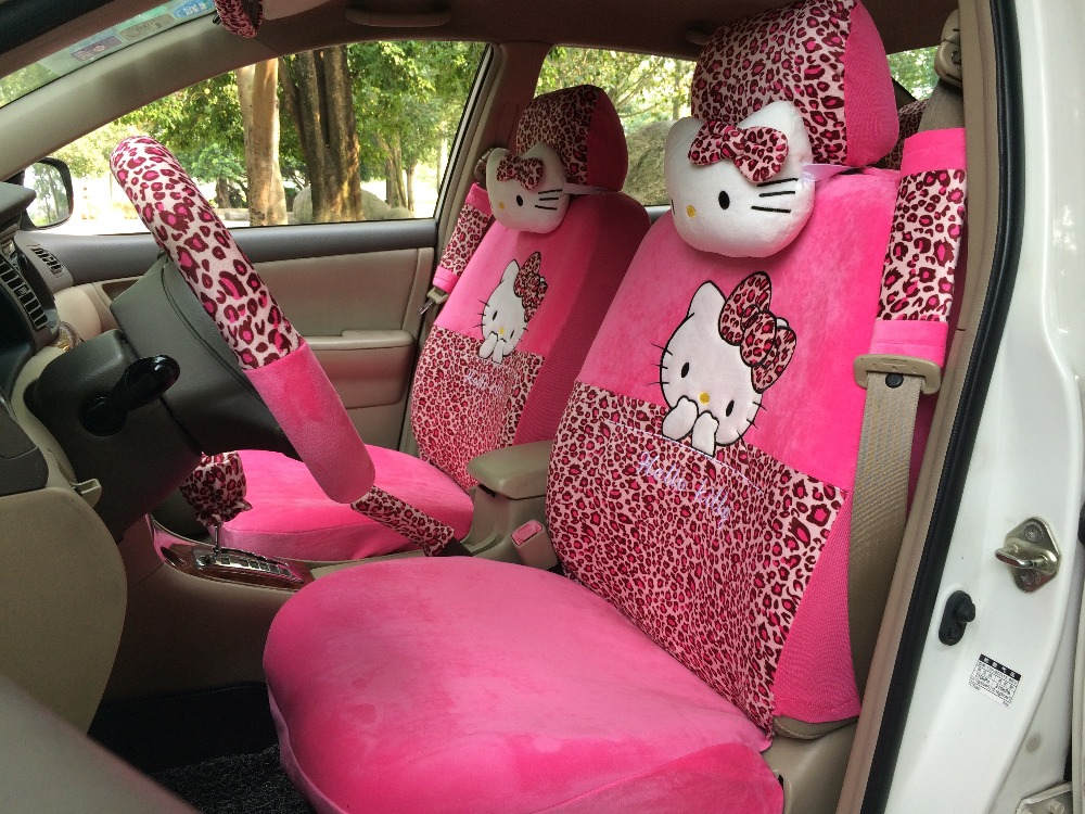 Hello Kitty Leopard Print Car Seat Covers