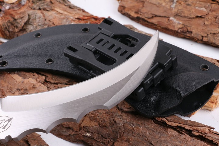 Buy High Quality L.W Karambit Tactical Survival Knife,440C Blade Ebony Handle Camping Knife,Hunting Fixed Knives.VG-10 cheap