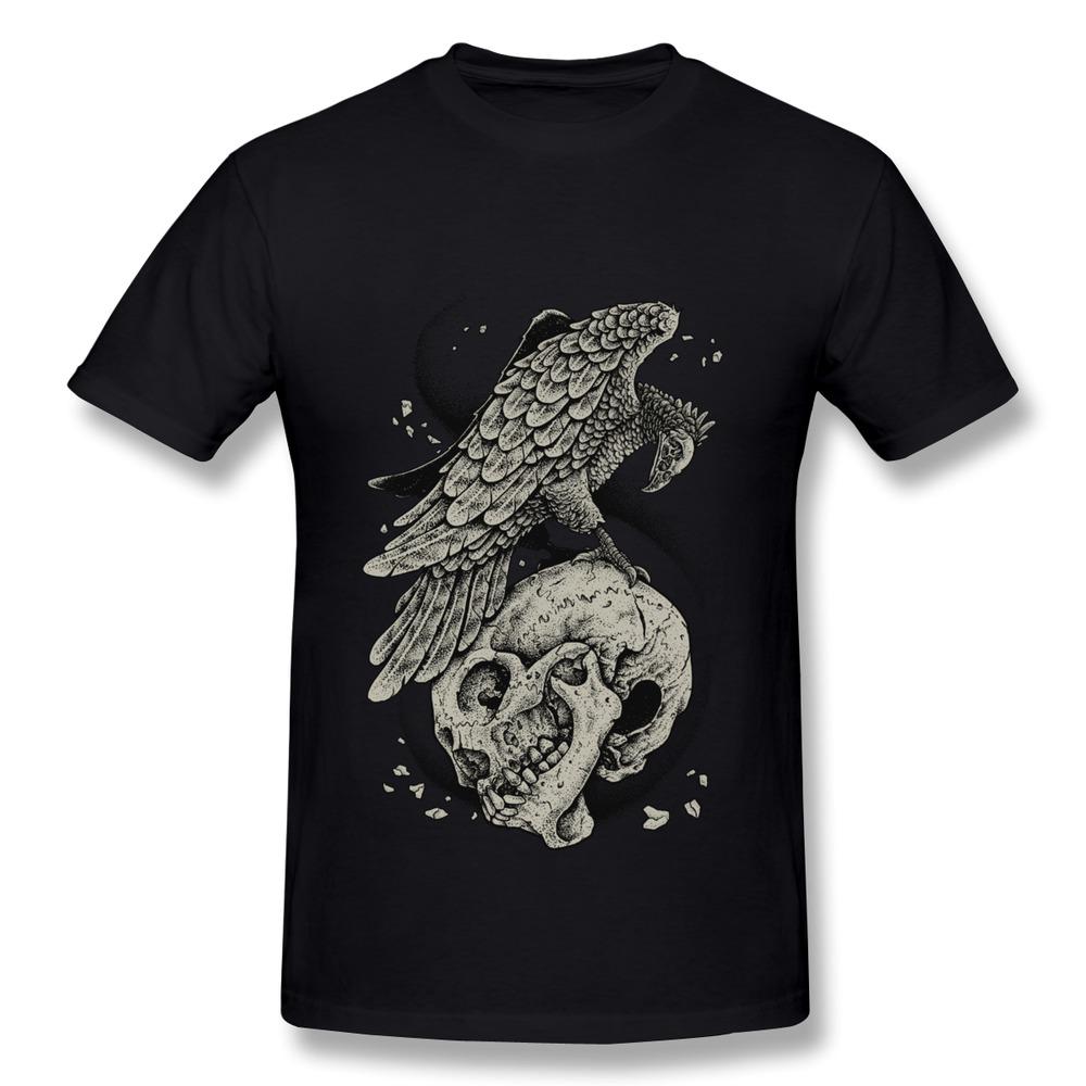 Short Sleeve Boy T Shirt Bird and Skull Design Your Own Fashion Style T Shirts Men(China (Mainland))