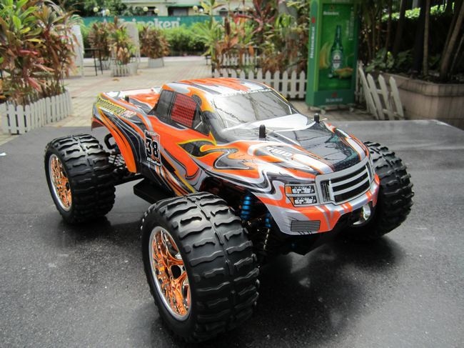 HSP 1/10th Scale Electric Powered Off Road Monster Truck,electric car 4 wheel drive(94111PRO)(China (Mainland))