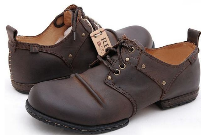 Free Ship! Large Size Shoes Mens Boots Genuine Leather, High Fashion Designer Brands, Horse Brown, EU39-44 - Kuta Co., Ltd. store