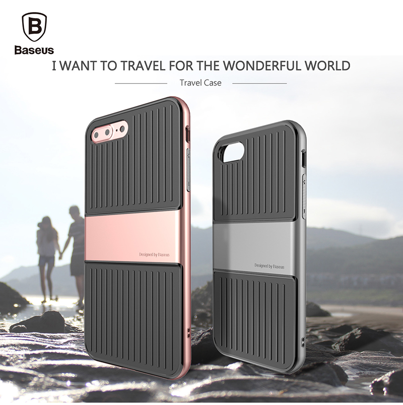 """Original Baseus Travel Series Armour 2 in 1 TPU + PC Back Case Protective Cover For iPhone 7 Case 4.7 """" Phone Protective Cover(China (Mainland))"""