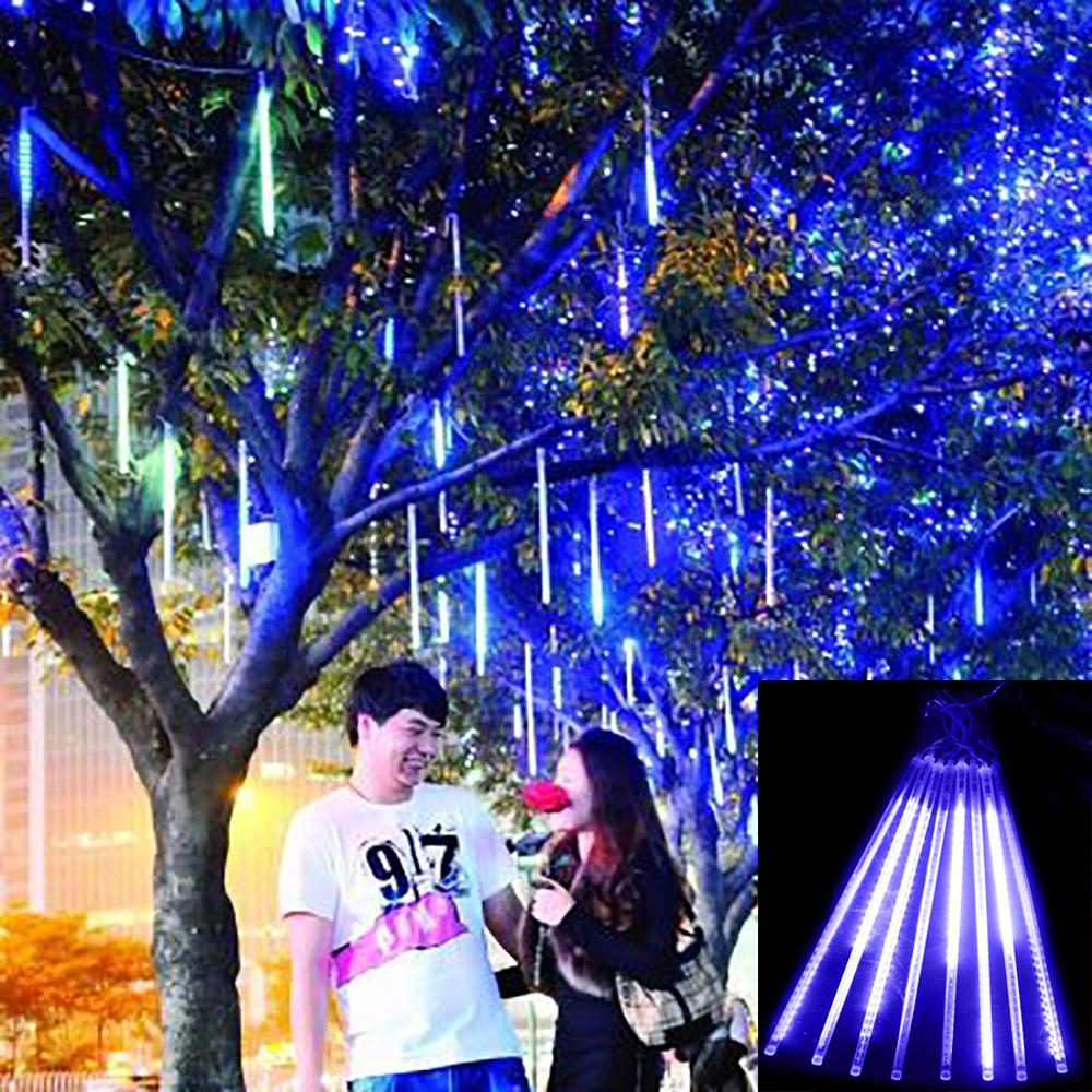 OFF 88%!! Meteor Shower Rain Tubes 30cm Christmas Lights Led Lamp 100-240V Outdoor Holiday Light New Year Decoration 8pcs/set(China (Mainland))