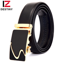 Buy DESTINY Newest Designer Belts Men High Genuine Leather Famous Brand S Gold Silver Automatic Buckle Belt Waist Strap Male for $9.66 in AliExpress store