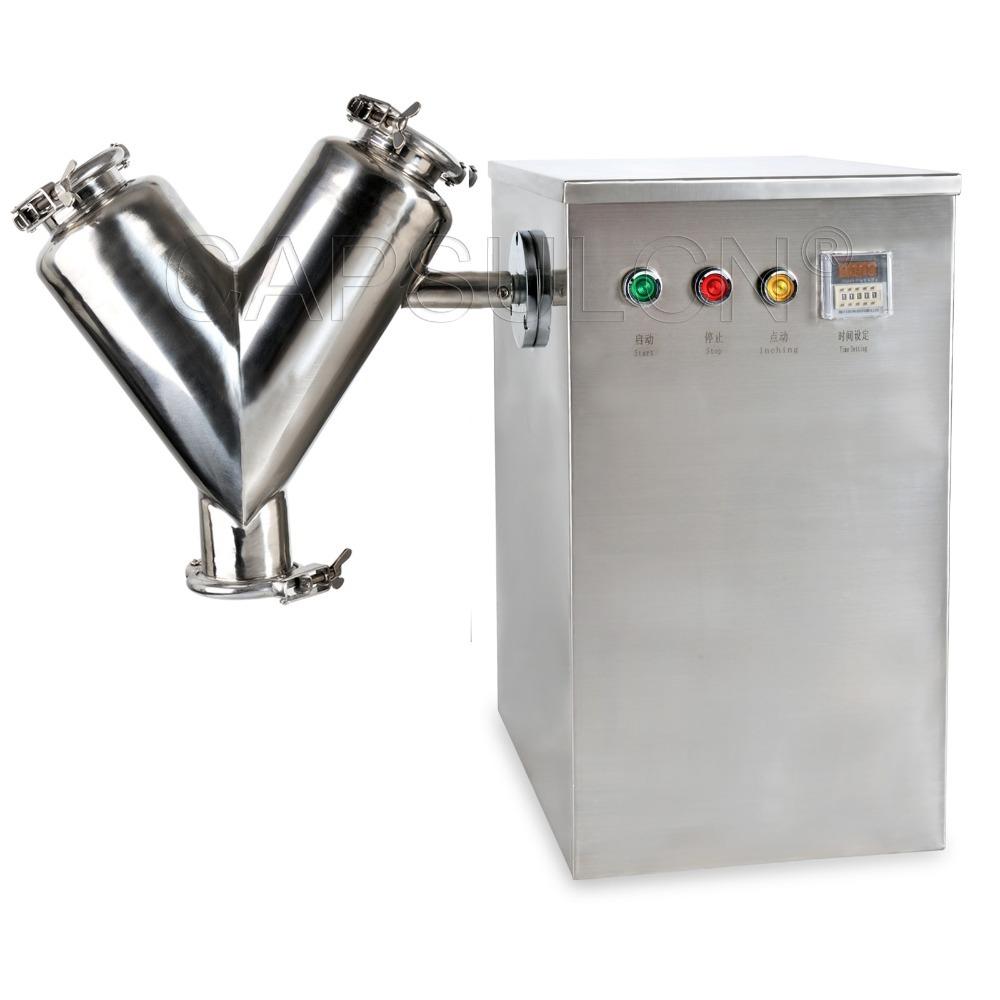 (110V 60HZ) V-5 stainless steel mini powder Mixer / powder mixing machine / laboratory mixer machine/ powder blending machine(Hong Kong)