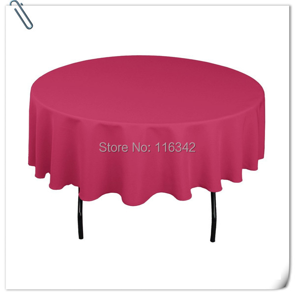 High Quality 305cm 10pcs diameter Round Table Cloth,Polyester Plain 180GSM Table Cloth For Wedding Event FREE SHIPPING(China (Mainland))