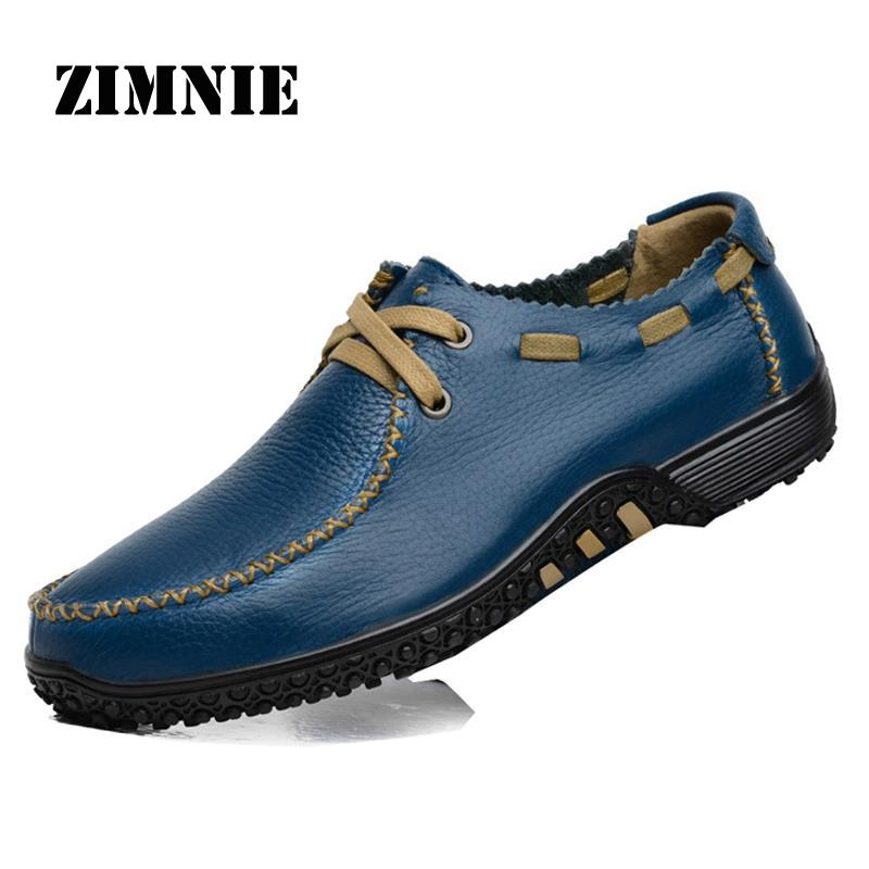Men Casual Loafer Plus Size Genuine Leather Men flats Casual Shoes Soft Loafer Brand Men Shoes Sapatos Masculinos Big Size 38-47<br><br>Aliexpress