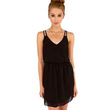 Buy Hot! Summer Dress Robe Sexy Sling Strap Back Chiffon Beach Dress Women Clothing Robe Femme Vestido De Festa for $4.14 in AliExpress store
