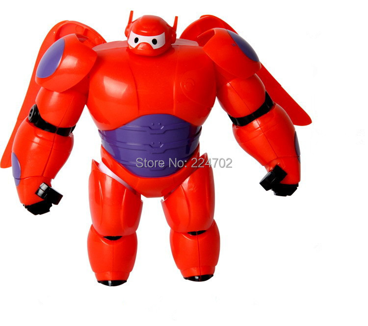 6 Inch The Latest Big Hero 6 Baymax PVC Action Figure Toy Fat Balloon Man Doll Transformations Robot Toys Gifts Free Shipping(China (Mainland))