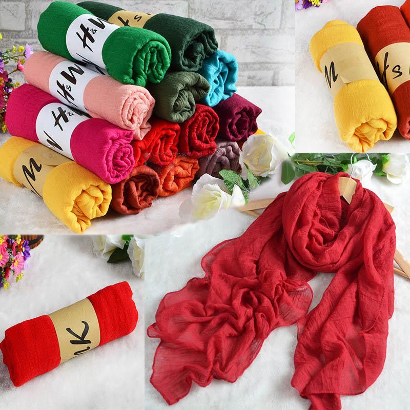 180*80 CM Fashion 2016 New Designer Brand Scarf Women Winter Cotton & Linen Blended Solid Echarpes Foulards Femme Scarves 99633