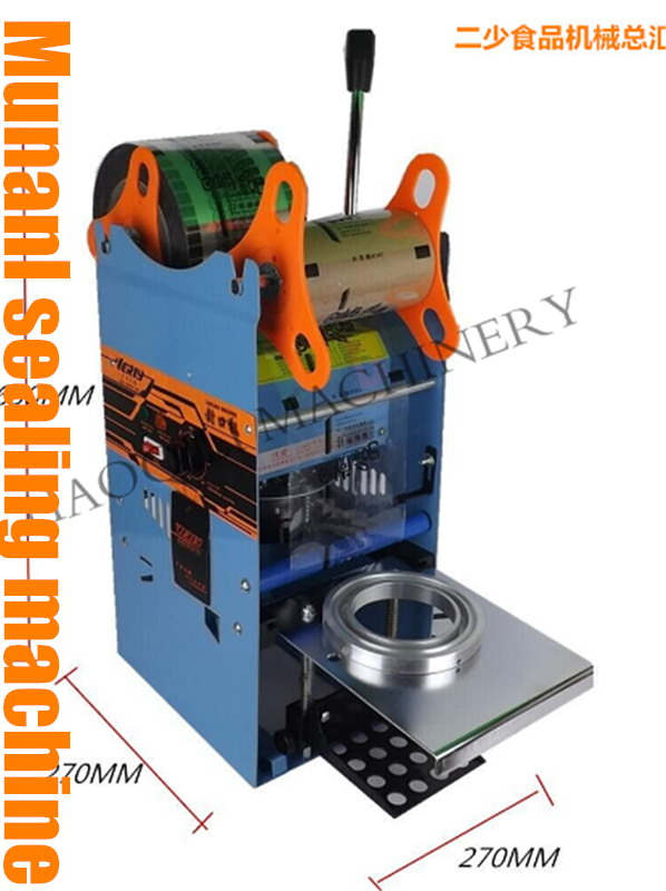 220V only WY 802F Manual Tall cup Sealing machine for Bubble Tea Fruit Juice