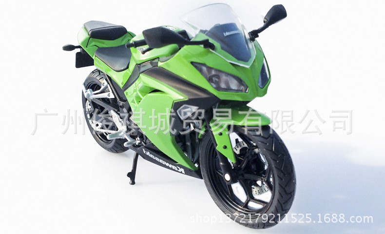hot sale Junki otto the Kawasaki motorcycle alloy model Ninja Kawasaki Ninja 250 1:12metals motor models for collection(China (Mainland))