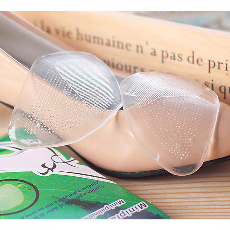 2pcs/1pair Women Gel Forefoot Silicone Shoe Pad Insoles Elastic Cushion Protect Feet Palm Care Pads Accessories(China (Mainland))