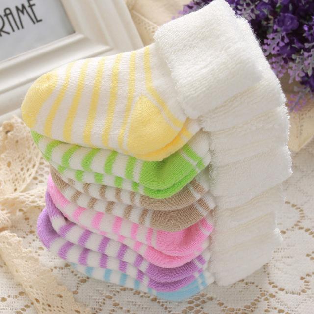 12 выбор цвета хлопок толстые теплые носки мягкие полотенце носки детей мальчик девочка ...