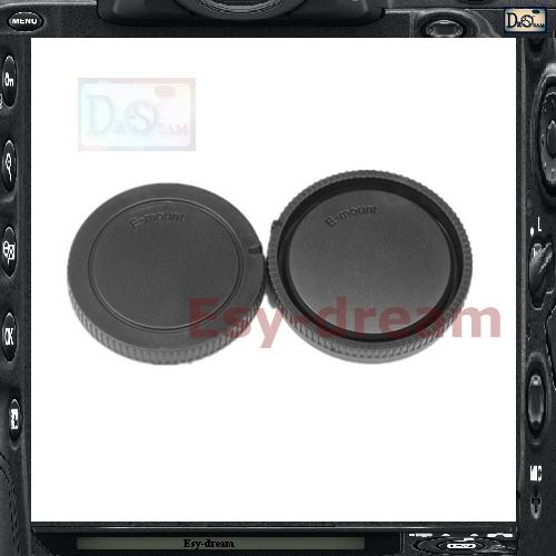 Rear Lens Cap Cover + Camera Front Body Sony NEX ILCE E Mount Cameras & NEX6 NEX7 A5000 A6000 NEX3 NEX5 NEXF3 - Cheap Photo store