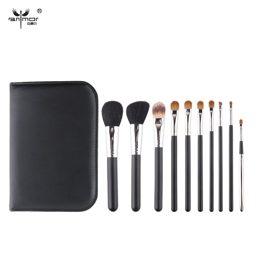 2015 High Quality Makeup Brushes Natural Hair Makeup Brush Set Professional Make Up Brushes With Pouch(China (Mainland))
