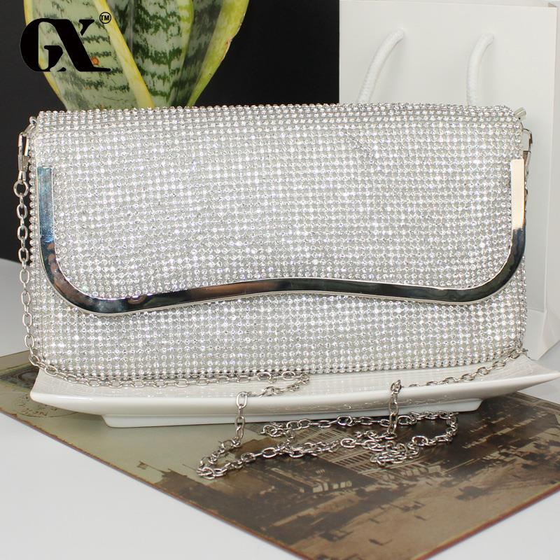 GX Realer Brand Women Messenger Bags Rhinestone Mosaic Handbag Female Small Shoulder Bags Envelope Clutch(China (Mainland))
