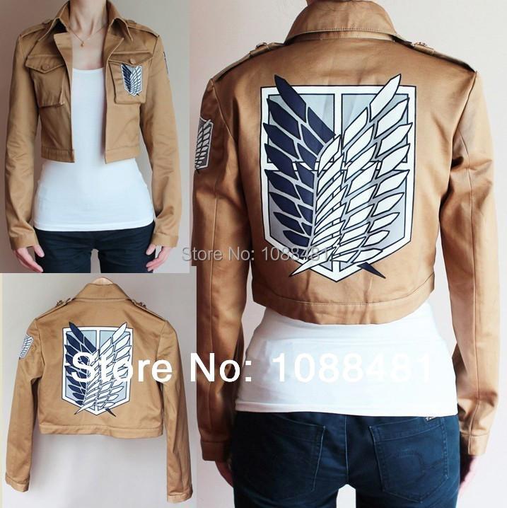 Attack on Titan Jacket Shingeki no Kyojin jacket Legion Cosplay Costume Jacket Coat Any Size High Quality Eren Levi(China (Mainland))