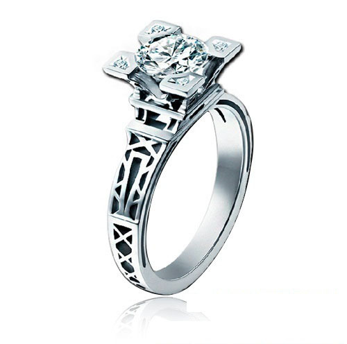 Rings Fashion Gold Filled For Women Fingers Gift Jewelry Square Crystal Wedding Created Diamond Ring Free