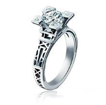 Valentine's Day gift to declare the Champs Elysees in Paris , France style kiss iron tower CZ Ring Ring meson
