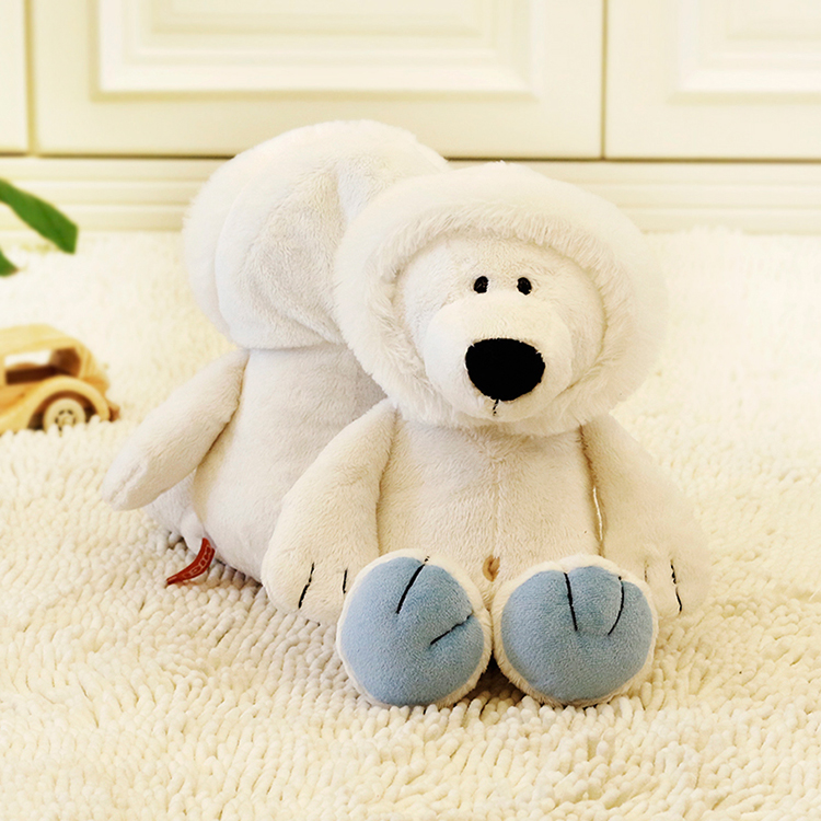 1pcs Kids Toy NICI White Polar Bear Plush Stuffed Teddy Toy With Hat 40cm Tall Good Gift Giving(China (Mainland))