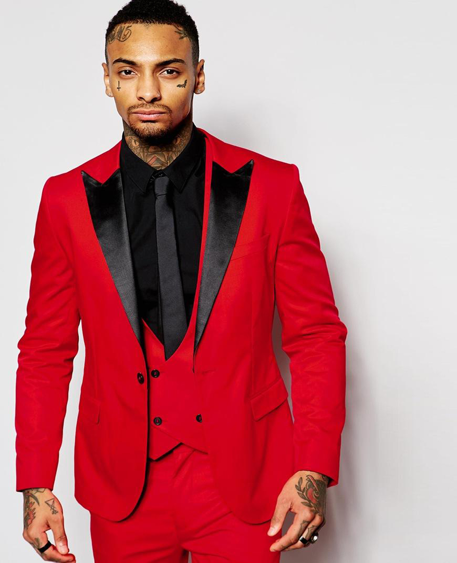High Quality Red Suit Men Skinny Fit-Buy Cheap Red Suit Men Skinny ...