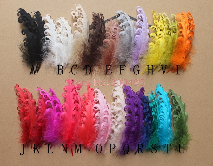 DIY Handcraft Feather Dyed Single 12-18 cm Frizzle Goose Feather High Quality #22 Color(China (Mainland))