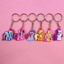6pcs/set My Cute Little Horse Unicorn Keychain Key Chains Action Figure Toys(China (Mainland))