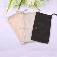 50pcs 9*17cm 200gsm Black Beige eyewear Pouch Grey Microfiber Sunglasses Pouch Custom Glasses Cloth Bag Pouch logo(China (Mainland))