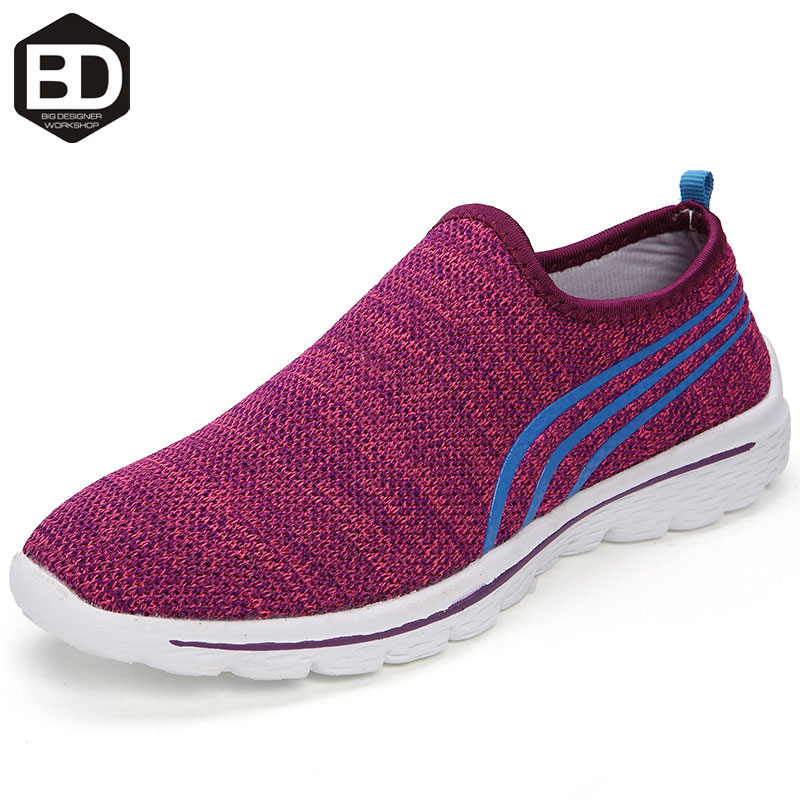 2016 New style Summer Mesh Shoes Women Slip On Super Cool walking shoes Comfortable Breathable women's Shoes zapatos size 36-40