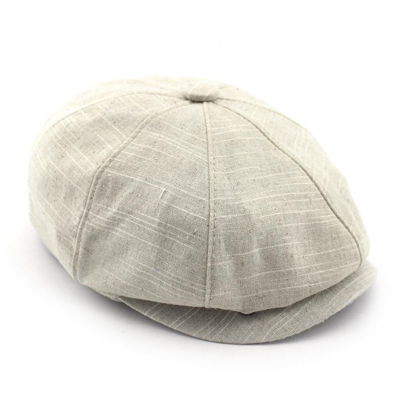 BFDADI Adult Popular Newsboy Cap Spring And Summer Linen Octagonal Cap Tidal Outdoor Fashion Hats Free Shipping