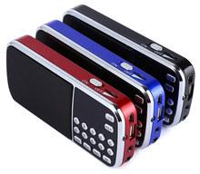 L-088 Portable Speaker MP3 Audio Music Player FM Radio Loudspeaker with Flashlight USB AUX TF Slot